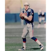 8 x 10 in. New England Patriots No.2 Drew Bledsoe Unsigned Photo