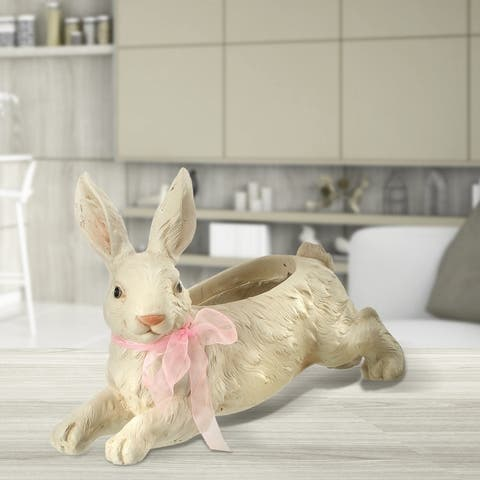 "Mgo Leaping Bunny Planter 18.5"""