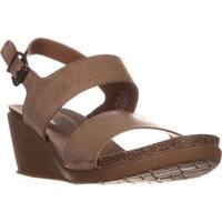 BareTraps Nadean Slingback Wedge Mule Sandals, Brown