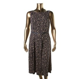 Jessica Howard Womens Polka Dot 2PC Dress With Cardigan