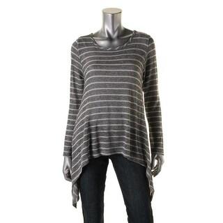 K&C Womens Metallic Striped Pullover Sweater