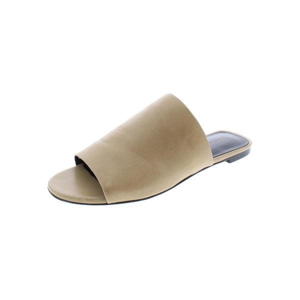 3b032be75 Shop Via Spiga Womens Heather Slide Sandals Leather Flats - Free ...