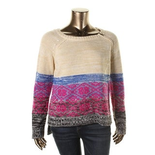 Eye Shadow Womens Knit Hi-Low Pullover Sweater - S