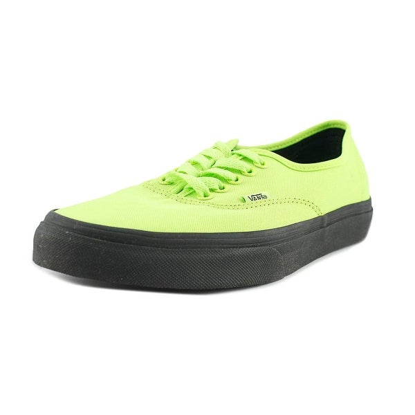 Vans Authentic Men Round Toe Canvas Yellow Sneakers