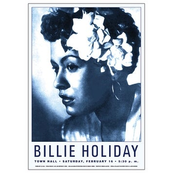 ''Billie Holiday: Town Hall NYC, 1946'' by Anon Concert Posters Art Print (24 x 17 in.)