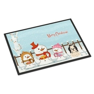 Carolines Treasures BB2419MAT Merry Christmas Carolers Shih Tzu Black White Indoor or Outdoor Mat 18 x 0.25 x 27 in.