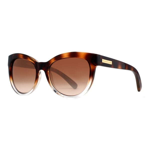 Michael Kors Mitzi I MK 6035 3125/13 Havana Brown Women's Cat Eye Sunglasses - clear havana brown - 53mm-18mm-135mm