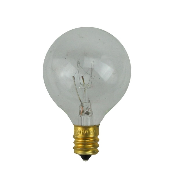 Pack of 25 Incandescent G40 Clear Christmas Replacement Bulbs
