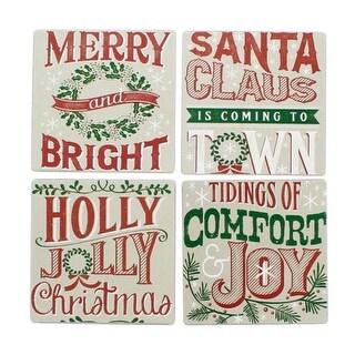 Wood Christmas Coasters