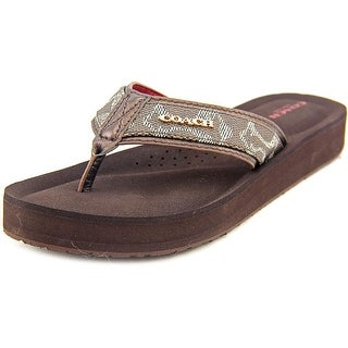 Coach Judy Open Toe Leather Thong Sandal