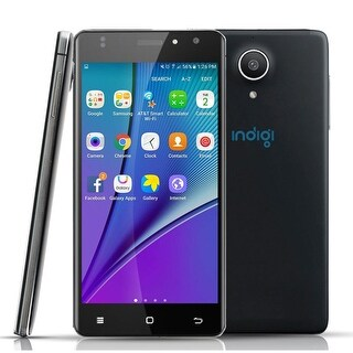 Indigi Android 6.0 DualSim 4G Lte SmartPhone 4Core Black Unlocked AT&T T Mobile