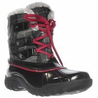 Anne Klein Gailla Mid-Calf Snow Boots, Gray/black