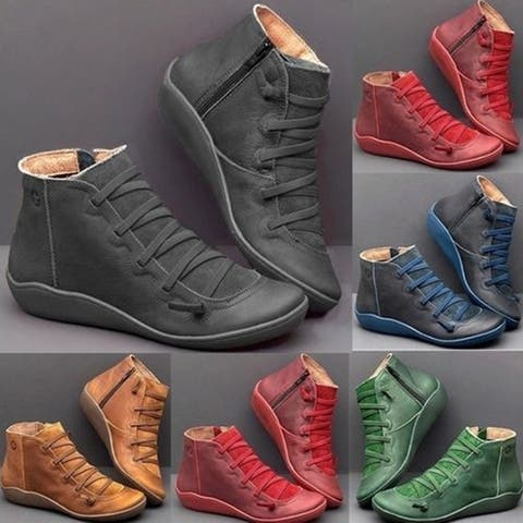 Women's Boots Plus Size British Martin Short Boots Casual