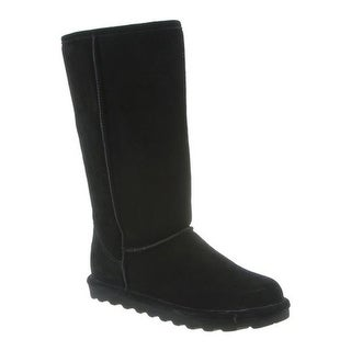 Bearpaw Women's Elle Tall Boot Black II Suede