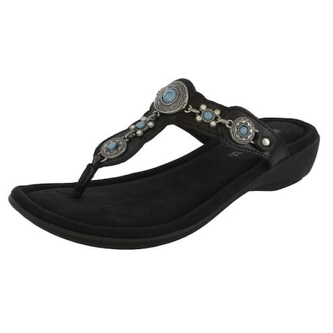 Minnetonka Sandal Womens Boca Thong III Full Leather Upper