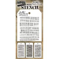 Tim Holtz Mini Layered Stencil Set 3/Pkg-Set #34
