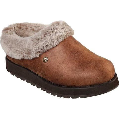 Skechers Women's BOBS Keepsakes R E M Clog Slipper Brown