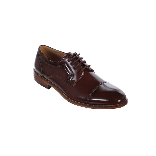 ee9b0fecd Shop Tip Top Kids Boys Brown Laces Oxford Shoes - Free Shipping On Orders  Over $45 - Overstock - 27634516
