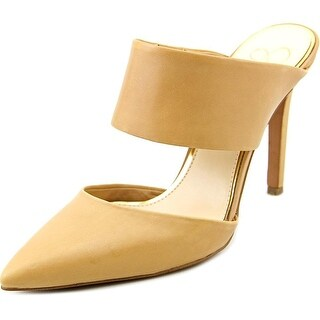 Jessica Simpson Womens Chandra Leather Pointed Toe Casual Mule Sandals