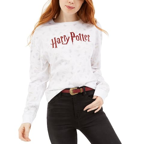 Warner Brothers Juniors' Harry Potter Graphic T-Shirt White Size XL - X-Large