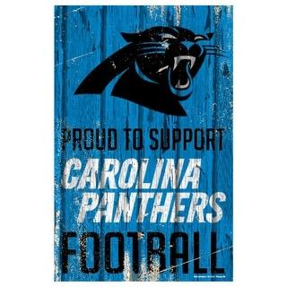 Carolina Panthers Sign 11x17 Wood Proud To Support Design