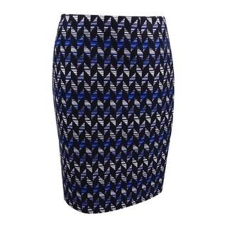 Kasper Women's Petite Tweed Pencil Skirt - celeste multi