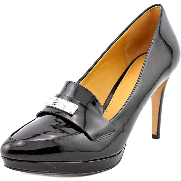 Coach Garnet Round Toe Patent Leather Heels