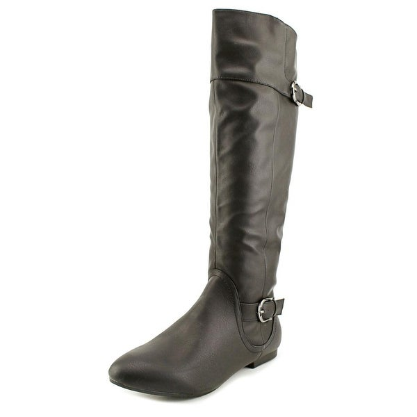 Tender Tootsies Jewel Women Round Toe Synthetic Black Knee High Boot