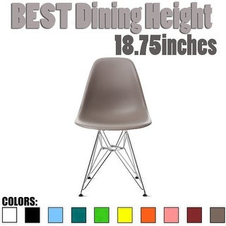 2xhome Designer Plastic Chairs Chrome Silver Wire Legs Retro Dining Accent Colors Molded Shell Desk Office Work Chrome Base
