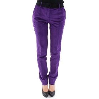 Dolce & Gabbana Dolce & Gabbana Purple Cotton Corduroys Jeans - it44-l