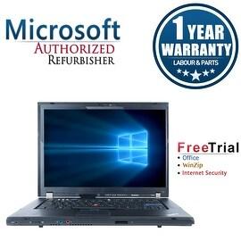 "Refurbished Lenovo ThinkPad T500 15.4"" Laptop Intel Core 2 Duo T9400 2.53G 4G DDR3 160G DVD Win 10 Pro 64 1 Year Warranty"