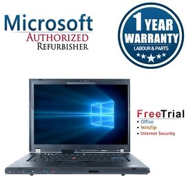 "Refurbished Lenovo ThinkPad T500 15.4"" Laptop Intel Core 2 Duo T9400 2.53G 4G DDR3 160G DVD Win 7 Pro 64 1 Year Warranty"