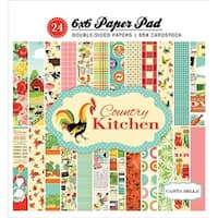 """Country Kitchen; 12 Designs/2 Each - Carta Bella Double-Sided Paper Pad 6""""X6"""" 24/Pkg"""