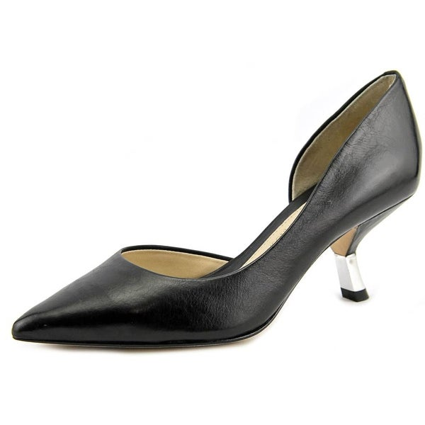 Carolinna Espinosa Calvin Pointed Toe Leather Heels