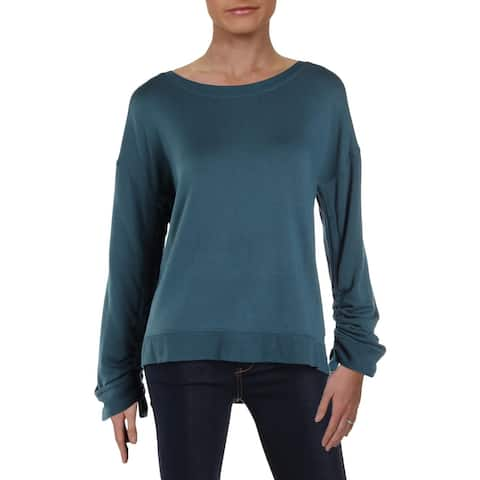 Donna Karan Womens Pullover Top Fitness Activewear