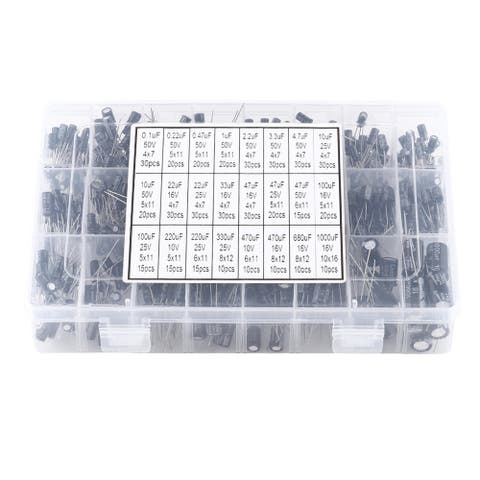 500pcs 24 Values Aluminum Electrolytic Capacitor Assorted Kit