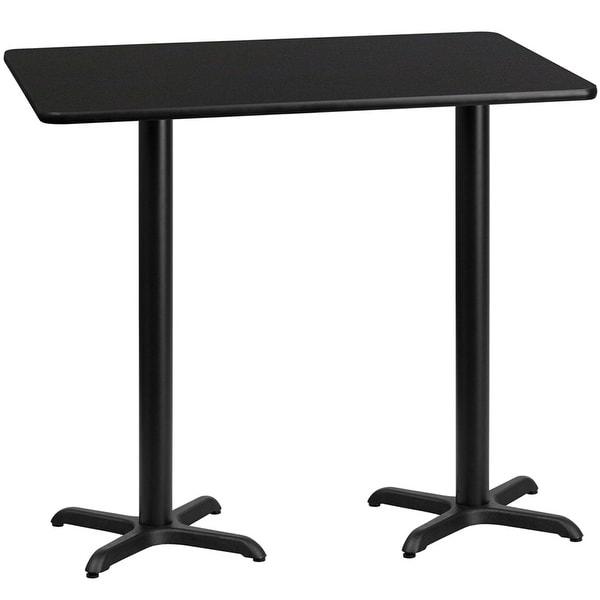 Shop Dyersburg 30 X 60 Rectangular Black Table Top W
