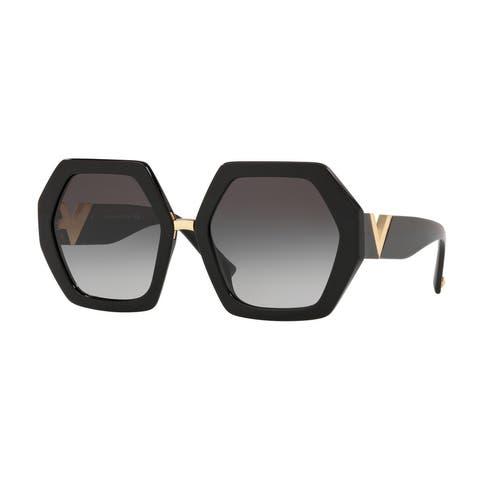Valentino VA4053 50018G 57 Black Woman Irregular Sunglasses