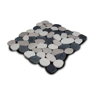 Miseno MT-S3PBWT Flatten Pebble Natural Stone Mosaic Tile (10.12 SF / Carton)