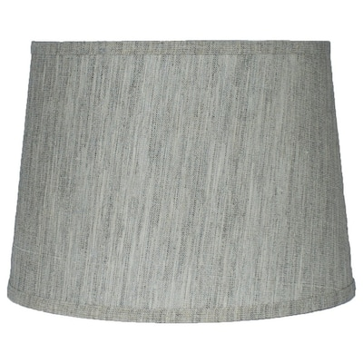 French Drum Lamp Shade, Textured Flax Linen, 12 inch Top, 14 inch Bottom, 10 inch Slant