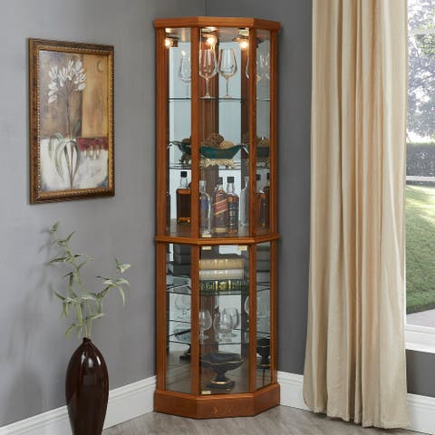 Franklyn Lighted Curio Cabinet