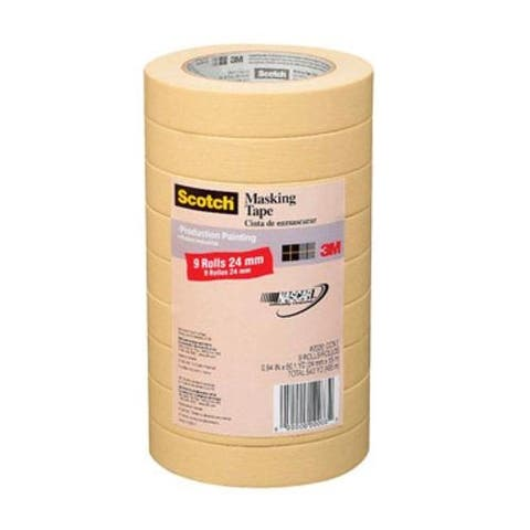 "Scotch 2020-24A-CP Masking Tape, 0.94"" x 60.1 Yard"