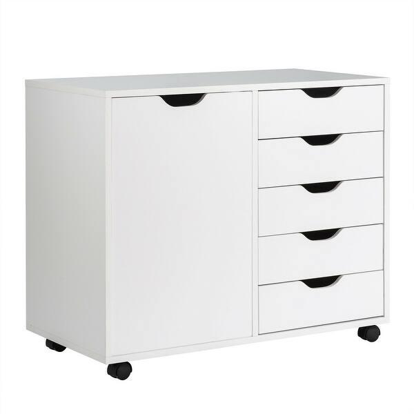 5 Drawer Dresser Chest Mobile Storage