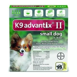 K9 Advantix II 4-10 Lbs. 4 Pack