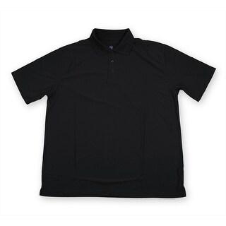 PGA TOUR Men's Polo Shirt - Black Solid - 3X Large