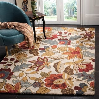 Link to Safavieh Handmade Blossom Christiana Modern Floral Wool Rug Similar Items in As Is