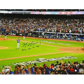 Mike Montgomery Chicago Cubs 2016 World Series Game 7 Last Out 16x20 Photo wParty Like Its 1908