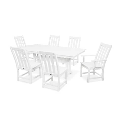 POLYWOOD Vineyard 7-Piece Farmhouse Dining Set