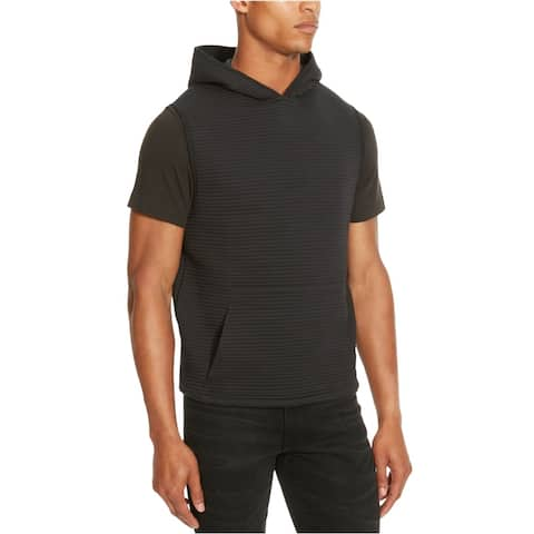 Kenneth Cole Mens Ottoman Quilted Hoodie Sweatshirt