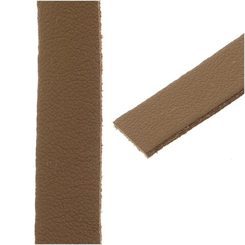 Flat Faux Leather Cord 10x1.3mm - Camel Brown - Pack of 1 Meter
